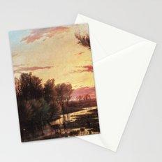 Un tramonto dopo la pioggia: A sunset after rain 1864 Stationery Cards