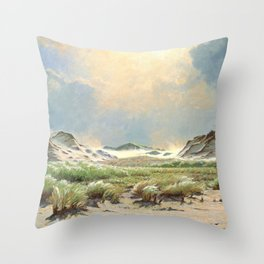 Strong wind in the dunes, Skagen - Digital Remastered Edition Throw Pillow