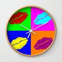 Colorful pop art lipstick kiss by pixxart
