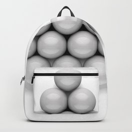 Billiard balls. Backpack