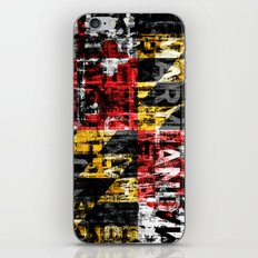 Maryland Flag Print iPhone & iPod Skin
