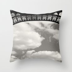 Black Lace of Eiffel Tower Throw Pillow