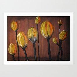 Tulip abstract Art Print