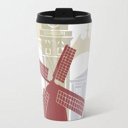Ponta Delgada  skyline poster Travel Mug