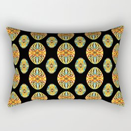 Vintage Easter Egg Pattern Hungarian Design Style Ornament Rectangular Pillow
