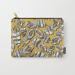 deco feathers gold sienna Carry-All Pouch