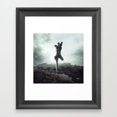 To never, to no more. Framed Art Print