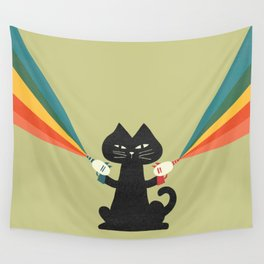 Ray gun cat Wall Tapestry