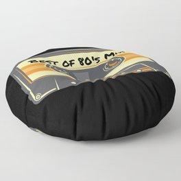 I'D Rather Be Retro Cassette Tape 80's Mix Floor Pillow