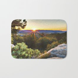 Sage Mountain Sunset Bath Mat