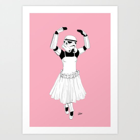Ballerinatrooper Art Print
