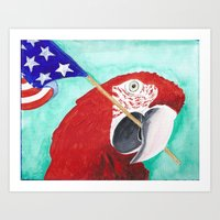 Red, White and Sassy Art Print