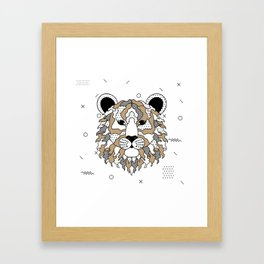 Tiger Chocolat Framed Art Print