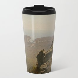 The Artist Sketching at Mount Desert, Maine Travel Mug