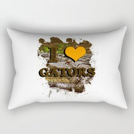 I heart gators Rectangular Pillow