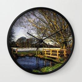 The Brook at Tidmarsh Wall Clock