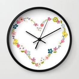 Flowerpower LOVE! Wall Clock