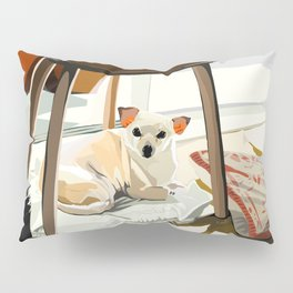 Ho-e under a chair Pillow Sham