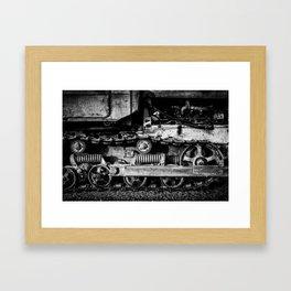 Vintage Caterpillar Tracks Framed Art Print