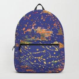 Boho Indigo: an original fiber art creation in blue Backpack