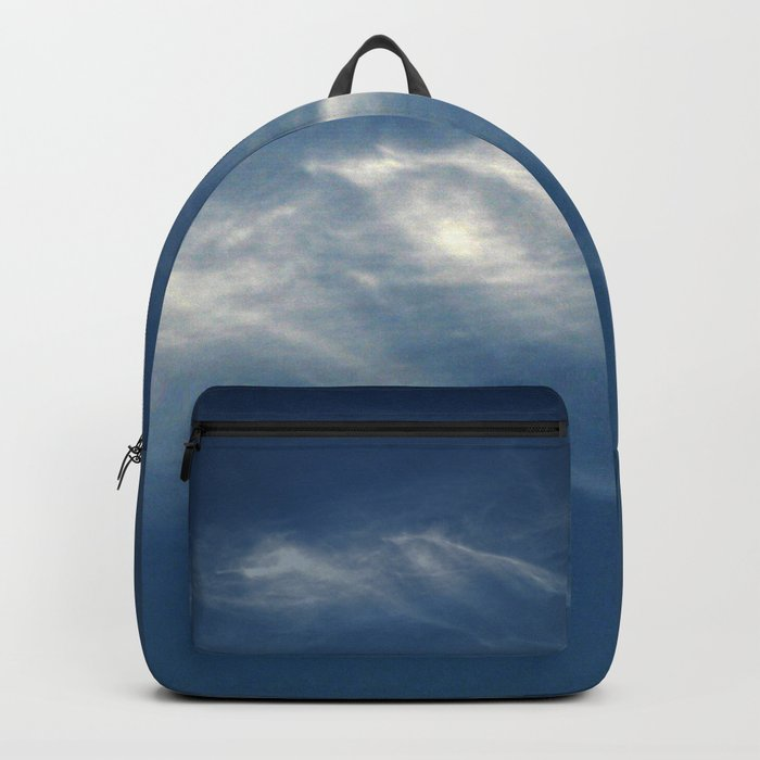 White mountains in the sky Backpack