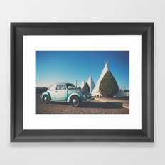 the wigwam motel ... Framed Art Print