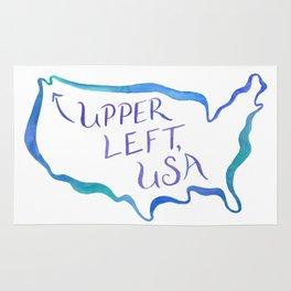Upper Left, USA - Cool Hues Rug