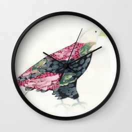 Salmon Eagle Wall Clock