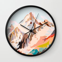 glass mountains Wall Clock