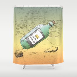 New Message Shower Curtain