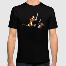 Bonifacio and Hobbes Mens Fitted Tee Black X-LARGE