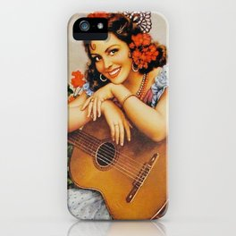 girl with guitarra iPhone Case