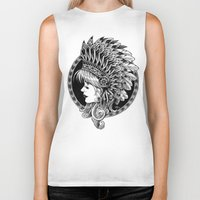 headdress Biker Tanks featuring Headdress by BIOWORKZ