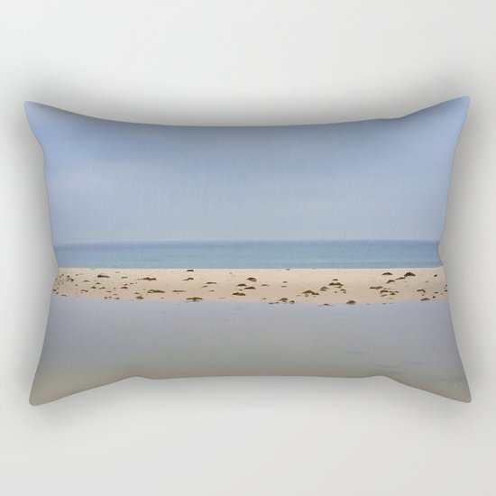"""Peace..."" Lake, sand, sea and sky... Rectangular Pillow"