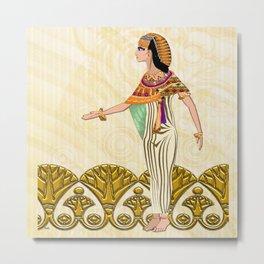 Egyptian Dancer Folk Art Metal Print