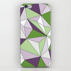 Geo - green, purple, gray and white. iPhone & iPod Skin