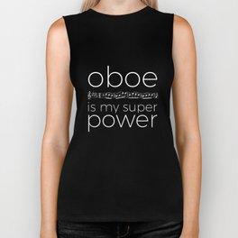 Oboe is my super power (black) Biker Tank