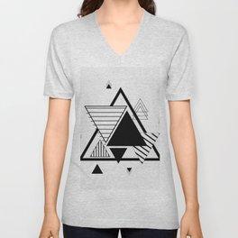 Triangle Geometric Elements Unisex V-Neck