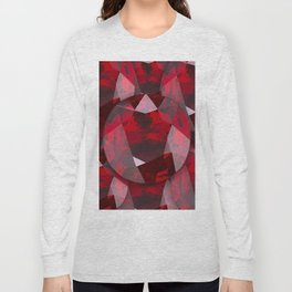 RED GARNET GEMS JANUARY BIRTHSTONE Long Sleeve T-shirt