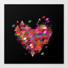 Heart1 Black Canvas Print