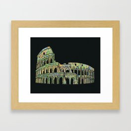 Colosseum Collage Framed Art Print