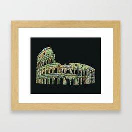 Colosseum Collage Framed Art Print