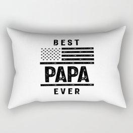 Best Papa Ever American Flag USA Flag T Shirt Gift for Best Rectangular Pillow