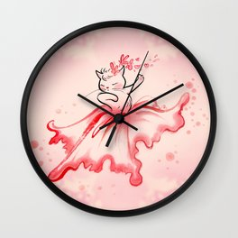 Dancing Flora Child Wall Clock