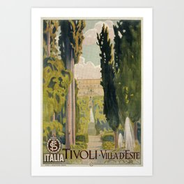 Tivoli Lazio Rome travel ad Art Print
