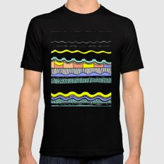 NATIVE WAVES MEDIUM Mens Fitted Tee Black