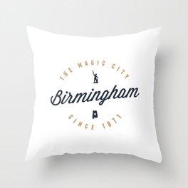 Birmingham, Alabama - The Magic City Throw Pillow