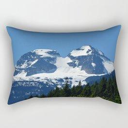 Twin Summits - Glacier Natnl Park Mountains, BC, Canada Rectangular Pillow