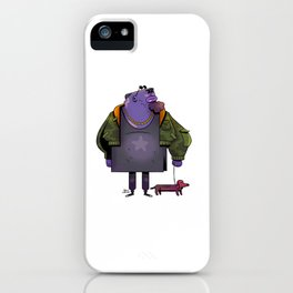 Off for a walk iPhone Case