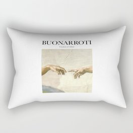 Buonarroti - Creation of Adam Rectangular Pillow